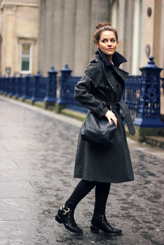Gant Rugger grey check wool coat 2