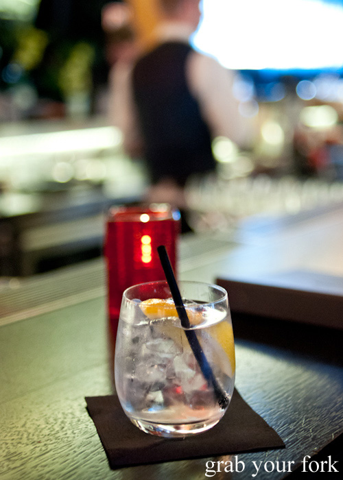 Gin and tonic at Sokyo Lounge at The Star, Pyrmont