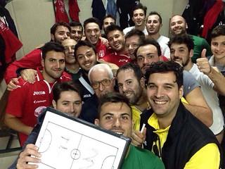 Selfie da campioni volare calcio a 5
