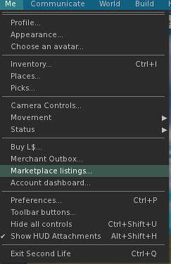 Finding Marketplace settings in viewer