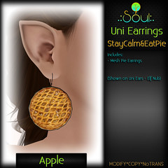 2014 UniEarrings StayCalm&EatPie - Apple