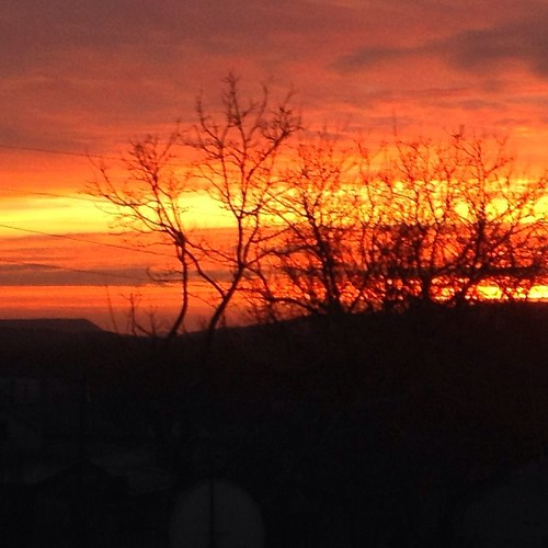 Утро красит нежным светом!))) рассвет из окна, и отлично видна Планерная гора))) #старыйкрым