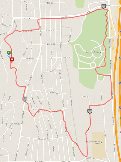 Today's awesome walk, 3.47 miles in 1:03