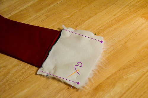 Step 10: Pin & Sew Cuff Sides