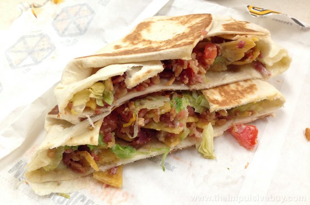 Taco Bell BLT Crunchwrap Slider
