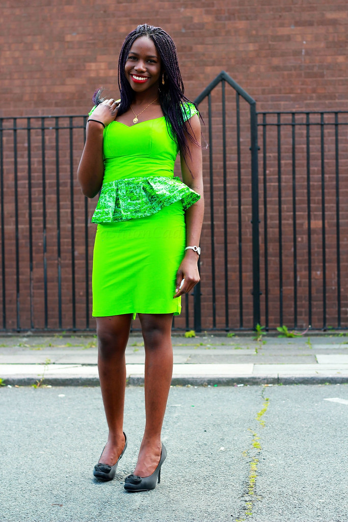 kitenge-chitenge-ankara-african-print-peplum-blouse-with-a-neon-skirt,office wears with african prints, peplum ankara top, peplum top styles, photos of nice chitenge pattern, pictures of different kitenge styles, pinterest african office wear, plain and pattern styles for ankara, styles of ankara blouses, the best ankara outfit, african kitenge new styles, young ladies kitenge designs,<br />