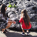 "Students were able to touch the fresh lava and see that although it has since cooled on the surface, it is still sharp and continues to cool underneath. For more photos: <a href=""https://www.flickr.com/photos/uhawaii/sets/72157649294241708/"">www.flickr.com/photos/uhawaii/sets/72157649294241708/</a>"