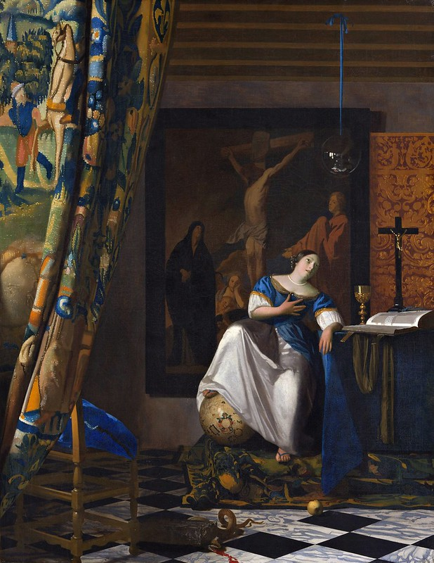 Johannes Vermeer - Allegory of the Catholic Faith (c.1670-72)