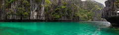 cliff water panorama