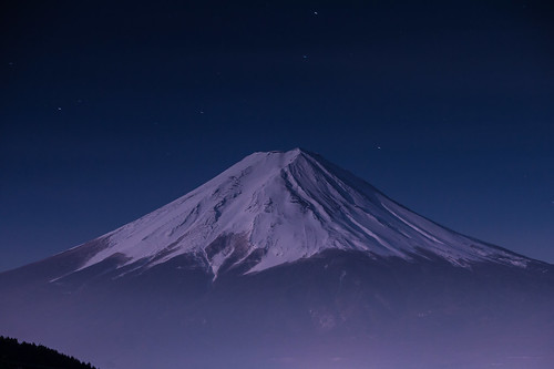 winter japan night fuji january 日本 nightview crazyshin yamanashi 2015 山梨県 富士河口湖町 御坂 南都留郡 御坂峠 afsnikkor70200mmf28ged 御坂道 nikond4s 20150105ds13267
