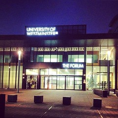 @uniwestminster Harrow Campus at dusk #uni #photography #education #TheForum #Harrow #maduni