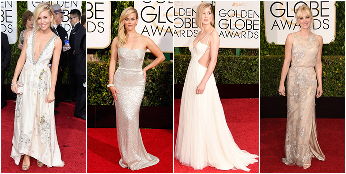 Best Dressed Golden Globes 2015 White