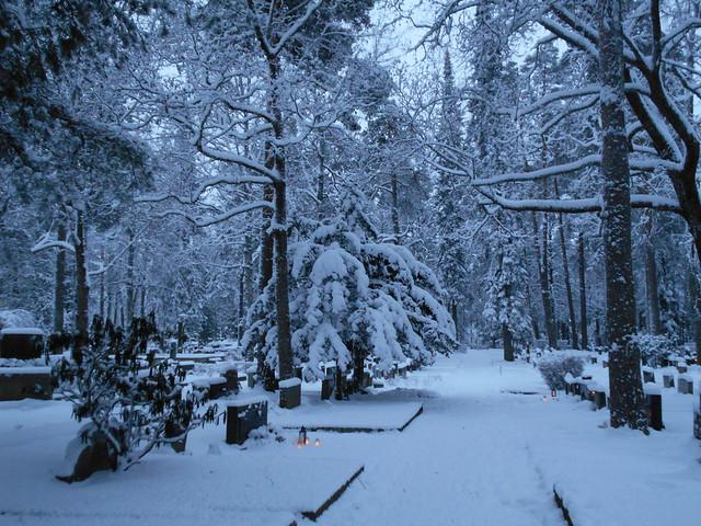 Luminen Ahveniston hautausmaa B 25.12.2014 Hämeenlinna