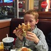 Luke was 'too hungry' for a kids meal, but I don't think he's quite ready for the big leagues, yet (at least, not at JCWs).