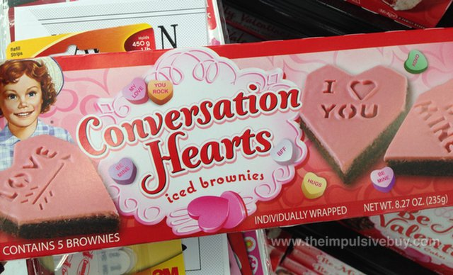 Little Debbie Conversation Hearts Iced Brownies