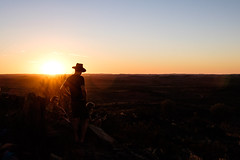 Broken Hill - sunset silhouette in landscape