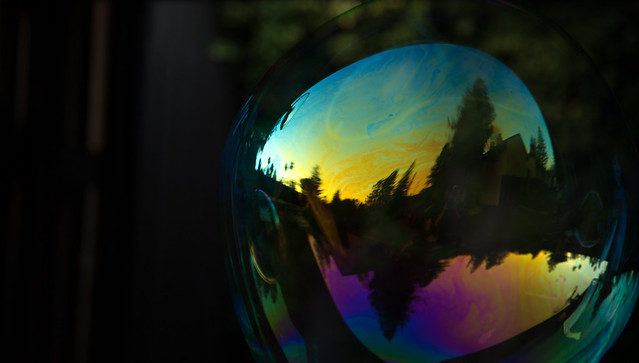 Reflection of Sunset in Bubble