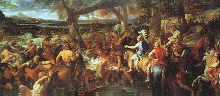 Painting Alexander and Porus by Charles Le Brun depicting Battle of the Hydaspes