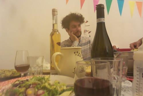 Col vapore della pasta in tavola