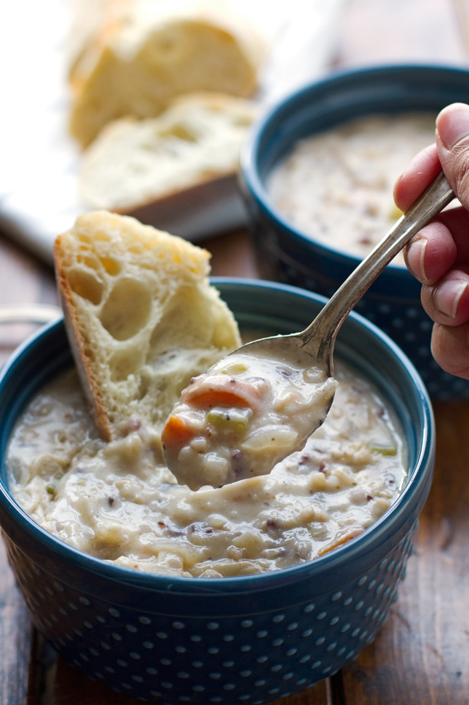 Top Slow Cooker Recipes » Creamy Chicken Wild Rice Soup ...