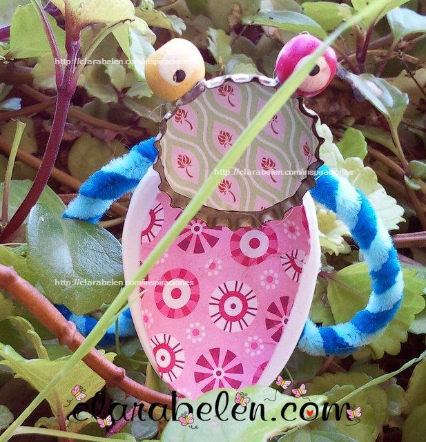 Tutorial decorar macetas con insectos de reciclaje de cucharas de plastico