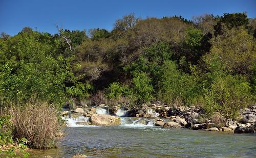 trees nature creek austin stream unitedstates tx blueskies hillside bartoncreek bartoncreekgreenbelt smallwaterfall project365 colorefexpro lookingnw nikond800e capturenx2edited hillsideoftrees sayinggoodbyetosunshine