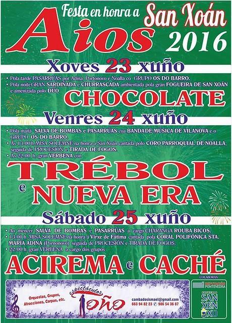 Sanxenxo 2016 - San Xoán en Aios - cartel