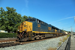 CSXT 3260 leads a manifest train westbound, Brunswick, MD
