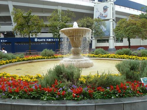横浜公園 水の広場の噴水