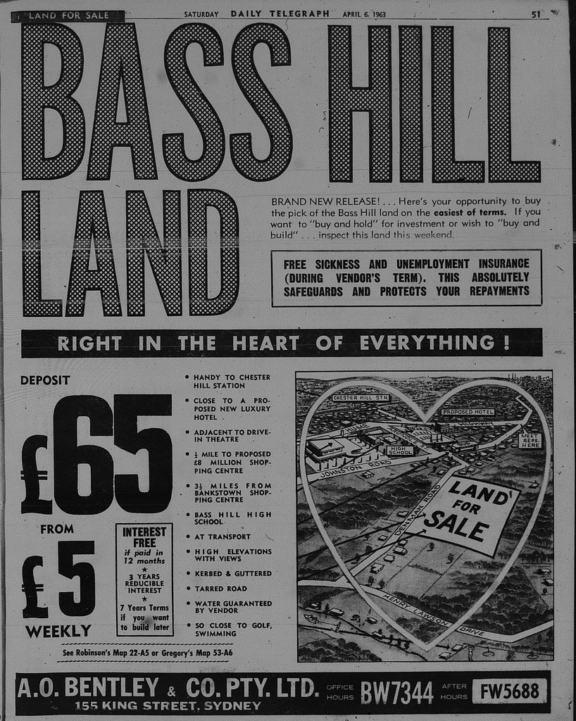 Bass Hill Land Release April 6 1963 daily telegraph 51