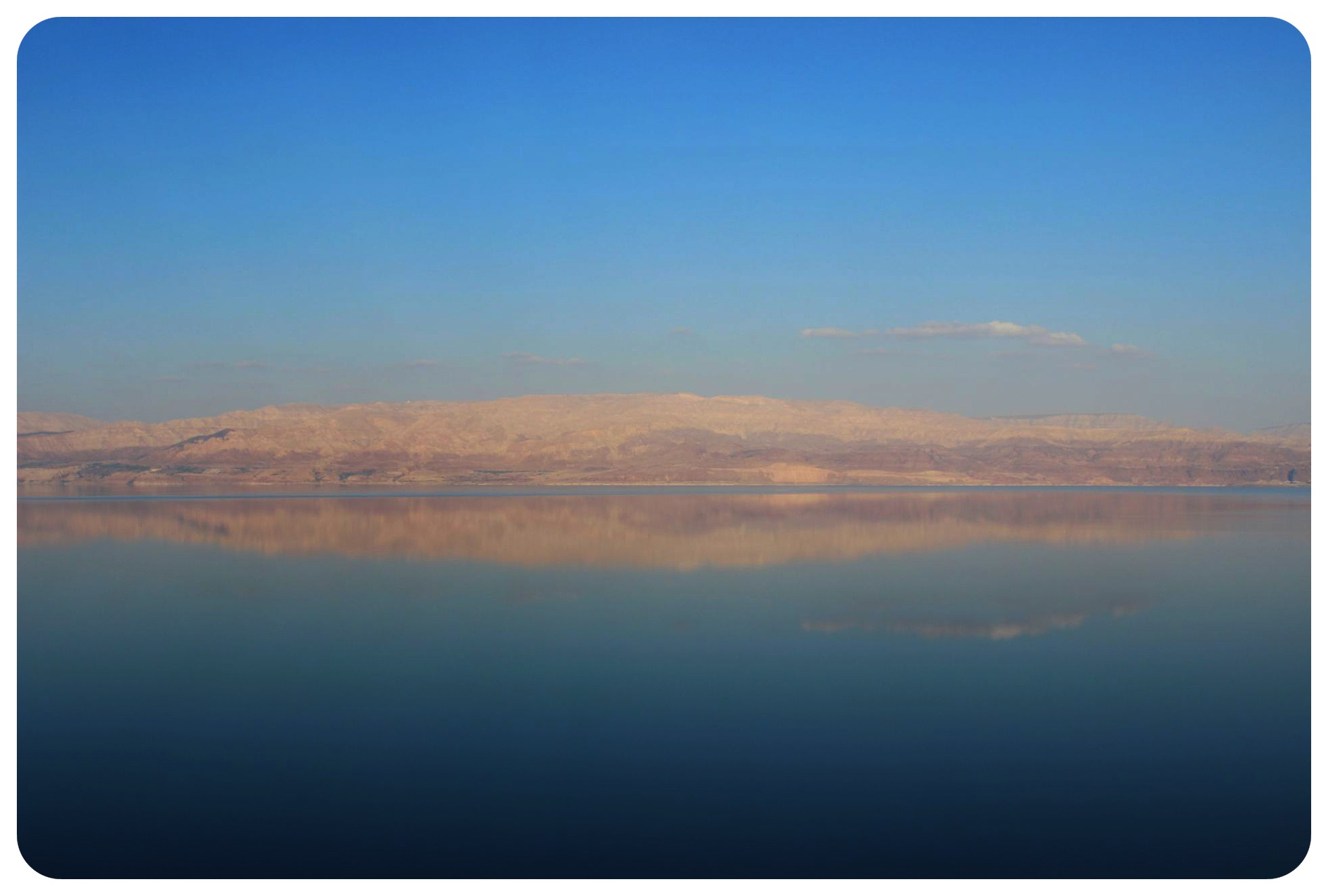 dead sea reflection israel