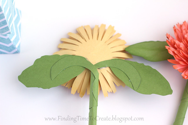 Calendula glue leaves to flower | Finding Time To Create