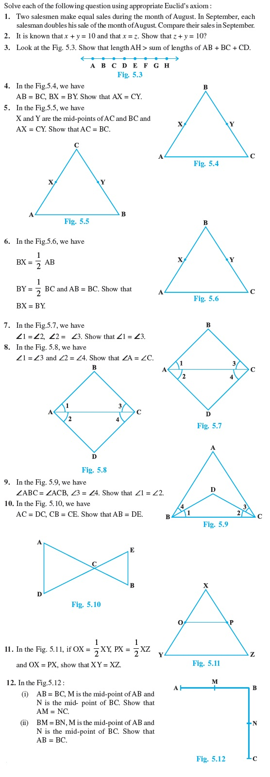 important questions for maths introduction to euclid s geometry class 9 important questions for maths introduction to euclid s geometry