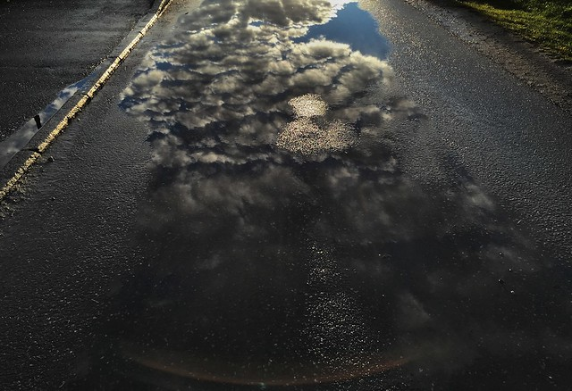 iphone6 plus: The water puddle reflection. Spydeberg, Norway