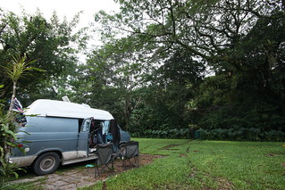 Jungle campsite at Maya Bell, Palenque, Mexico.