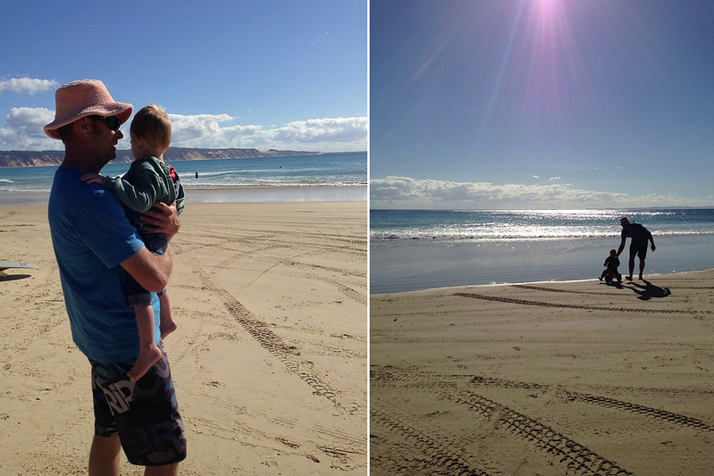 August 2014- Spencer's first beach trip002
