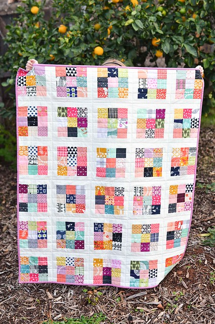 Scrappy Postage Stamp Baby Quilt