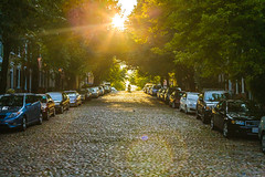Cobblestone sunset