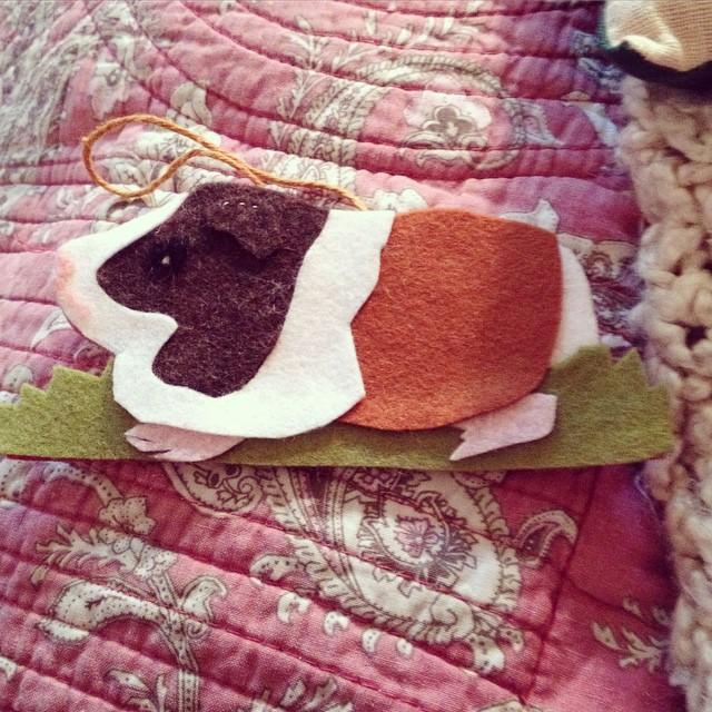 The Claudia ornament @oliviaelemental made us. #guineapig #handmade #yule #yuletide