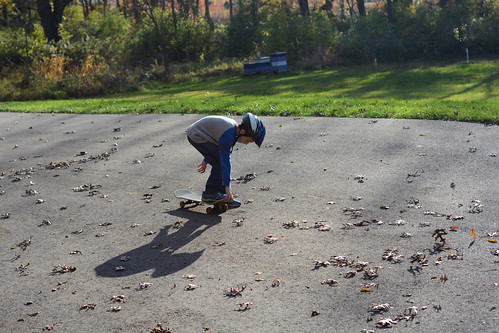 Skateboarding and chickens