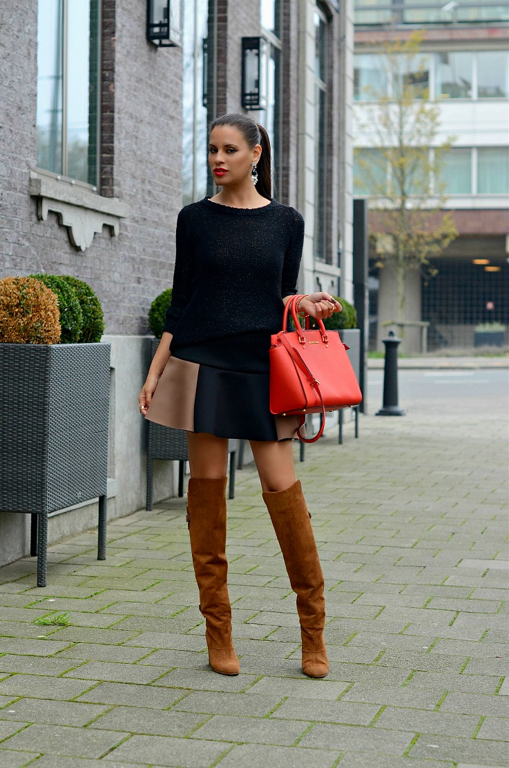 DSC_3732 Over the knee boots, Michael Kors Selma bag manderin, Tamara Chloé2