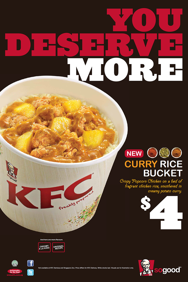 Curry Rice Bucket In-store Poster