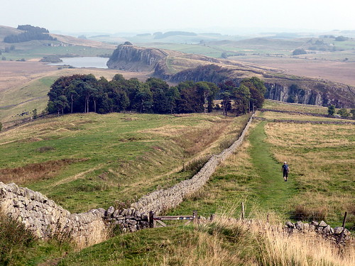 View of Hadrian's Wall near Steel Rigg