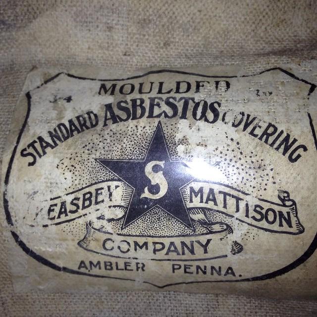 Vintage Keasbey & Mattison asbestos insulation label