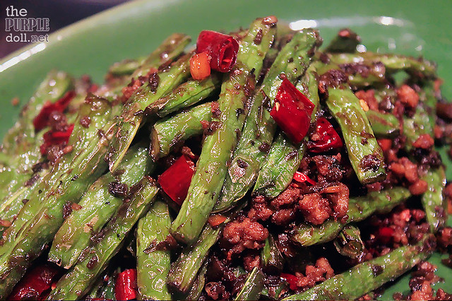 Fried French Beans, Minced Pork, Preserved Vegetables, Chilli (MOP 95)