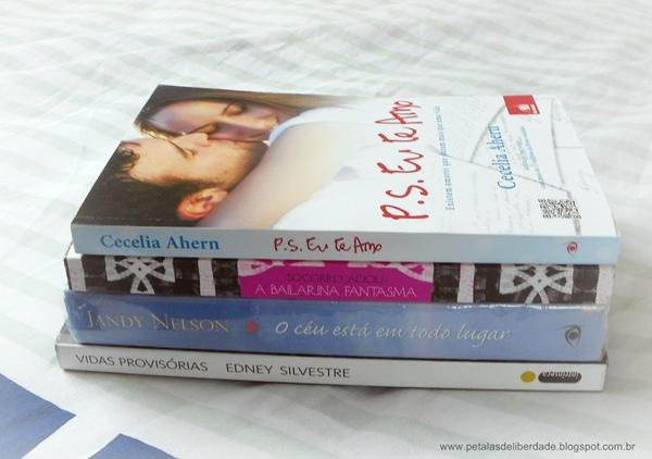 Caixa de Correio, blog, livros, outubro, PS Eu te amo, A Bailarina Fantasma, O céu está em todo lugar, Vidas provisórias
