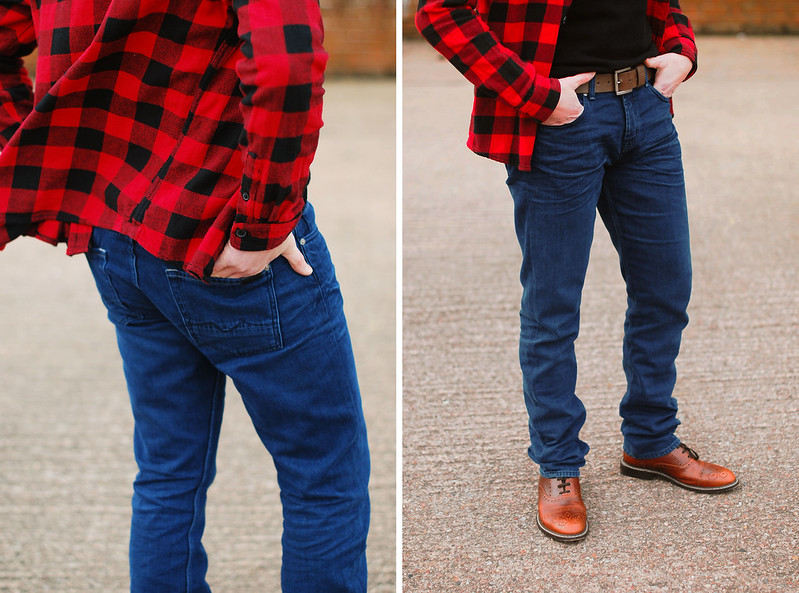 Casual Menswear: Buffalo plaid, Roll-neck and jeans