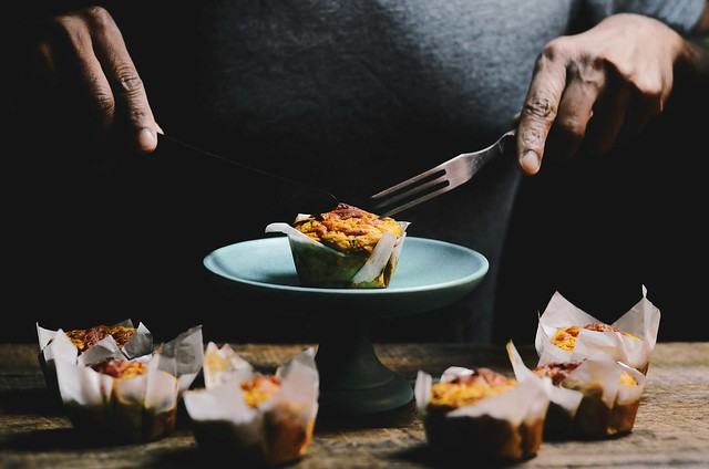 Savory Sweet Potato Quinoa Muffins | A Brown Table | @abrowntable