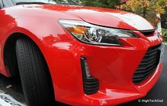 rim(0.0), automobile(1.0), automotive exterior(1.0), wheel(1.0), vehicle(1.0), automotive design(1.0), scion(1.0), mid-size car(1.0), bumper(1.0), land vehicle(1.0), sports car(1.0),