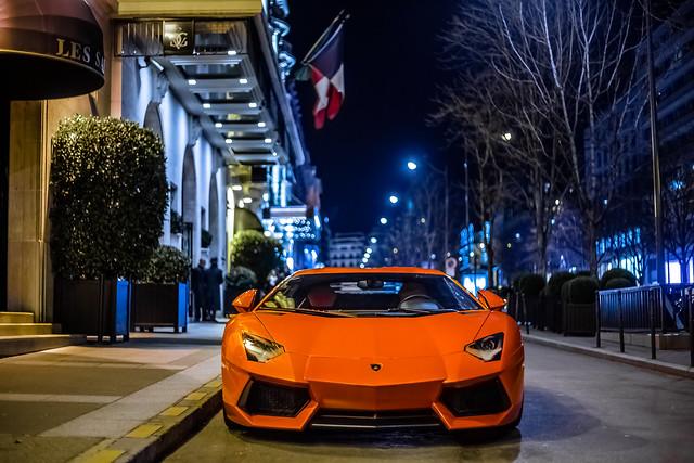 orange aventador